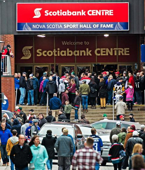 Fans enter the Scotiabank Centre during Memorial Cup